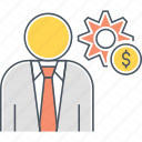 finance options, financial options, income settings, money preferences, tools icon