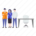 business crew, business group, business team, employees, office staff icon