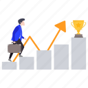 career advancement, career ladder, career path, climb ladder, success ladder icon