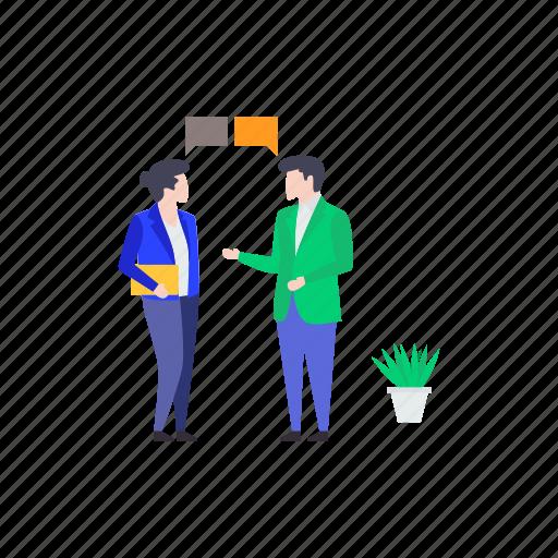collaboration, communication, conversation, dialogue, discussion, talking icon
