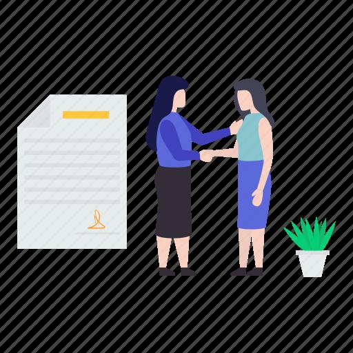 agreement, business agreement, business deal, business partnership, contract icon