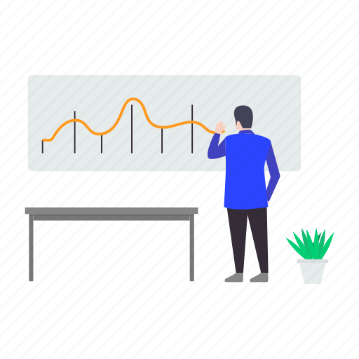 business analytics, business infographic, business statistics, graphical presentation icon