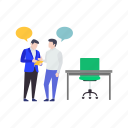 business discussion, business instruction, business meeting, business negotiations, business talks icon