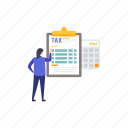 accounting, auditing, financial estimate, tax accounting, tax arithmetic, tax calculation icon
