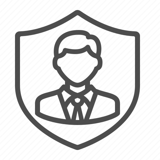 businessman, life insurance, man, security, shield icon