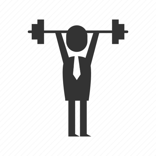 course, strength, training icon