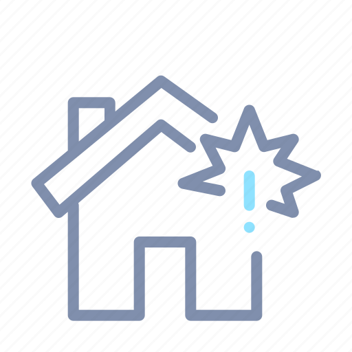 accident, force majeure, home, house, insurance, property icon