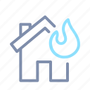 accident, building, fire, home, house, insurance, property icon