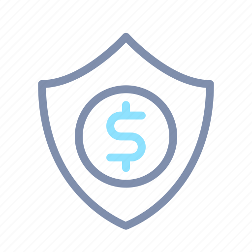 finance, insurance, investment, money, protection, shield, wealth icon