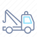 insurance, tow, towing, transportation, truck, vehicle icon