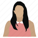 avatar, female, lawyer, manager, person, student, woman icon