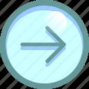 forward, go to, next, right icon