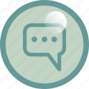 chat, cloud, conversation, message, typing icon