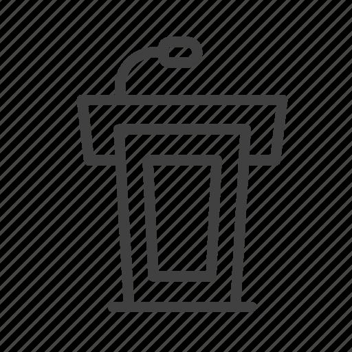Podium, speech, presentation, speaker, conference, communication, meeting icon - Download on Iconfinder