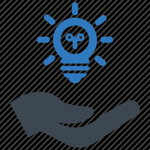 brainstorming, business idea, light bulb icon