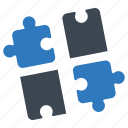 puzzle, solution, strategy icon