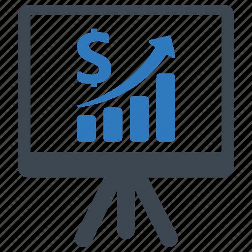 analytics, growth, report icon