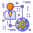 efficiency, gear, management, planning, solution, strategy, teamwork icon