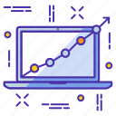 analytics, analyze, chart, diagram, presentation, project, report icon