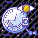 camera, clock, eye, safe, security icon