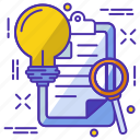 bulb, document, idea, page, project, web icon