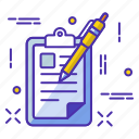 office, officewark, page, paper, pen, wark, web icon