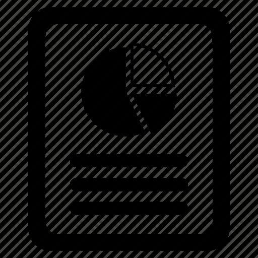 analytics, document, pie chart icon