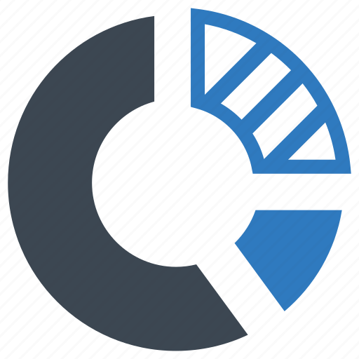 financial report, pie chart, statistics icon