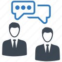 businessman, discuss, meeting, talk icon