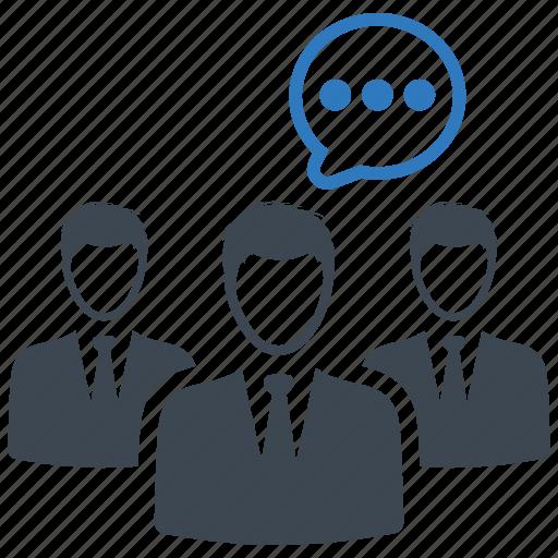 conversation, discuss, meeting, speech icon