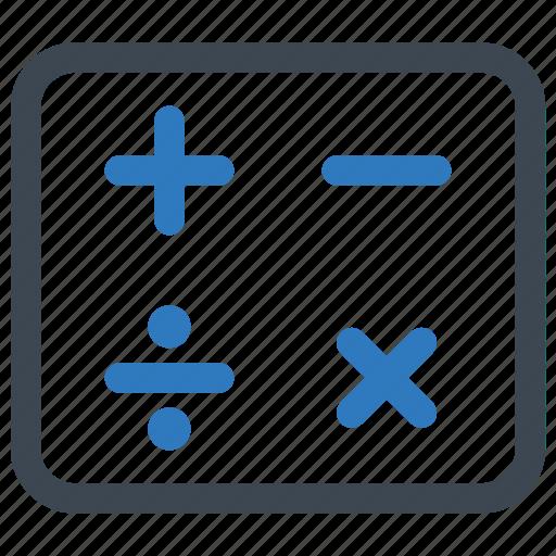 calculate, calculation, math icon