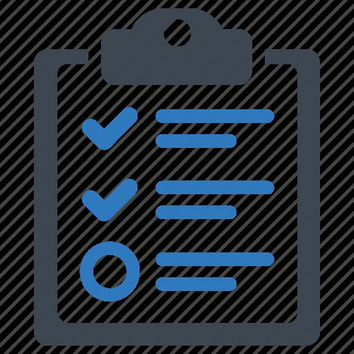 checklist, checkmark, task icon