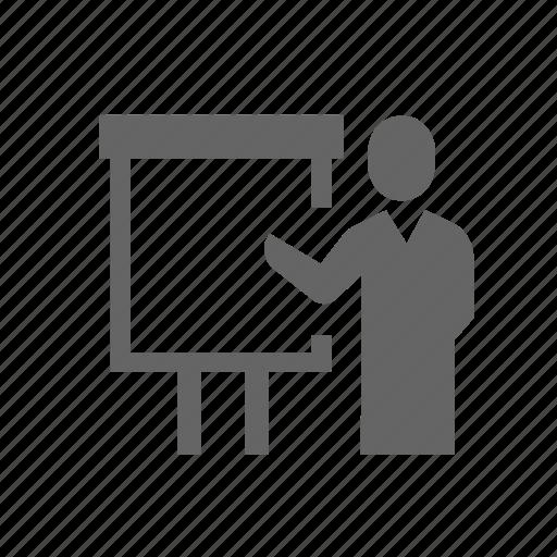instructor, person, presentation, show, speaker, teacher, training icon
