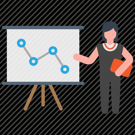 business, presentation, speech icon