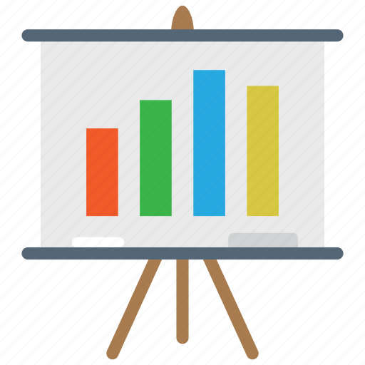 analytics, graph, presentation icon