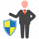 business, businessman, insurance, protection icon