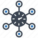 network, time, time scheme, time sharing, zone icon