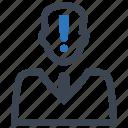 account, alert, warning icon