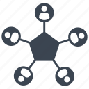 employee, network, social network, user icon