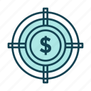 accounting, business, money, point, professional, target icon