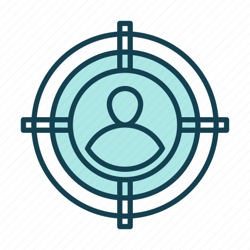 business, consumer, point, professional, search, target icon