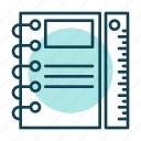 book, business, document, note, professional, ruler icon