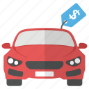 car price, car purchase, car value, new car, vehicle cost icon