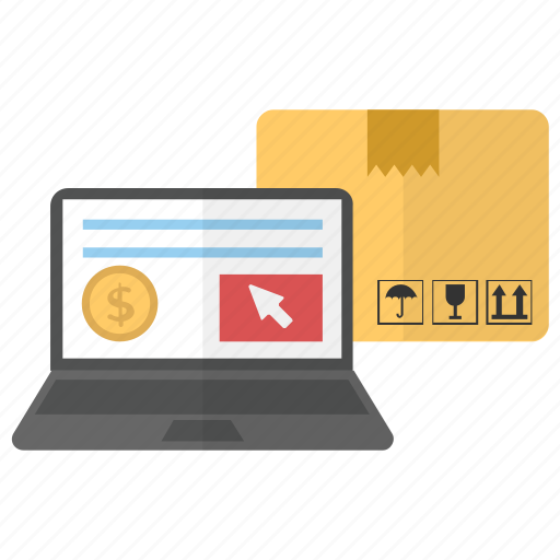 buy online, ecommerce, online delivery, online purchase, online shopping icon