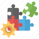 business mechanism, business relationship, cooperation, groupwork, teamwork icon