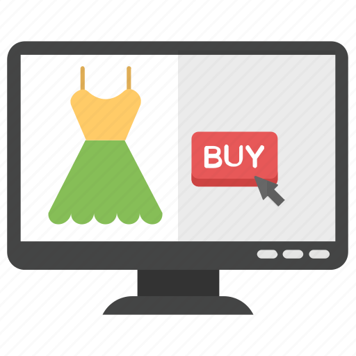 designer clothes, online clothing, online shop, online shopping, online store icon