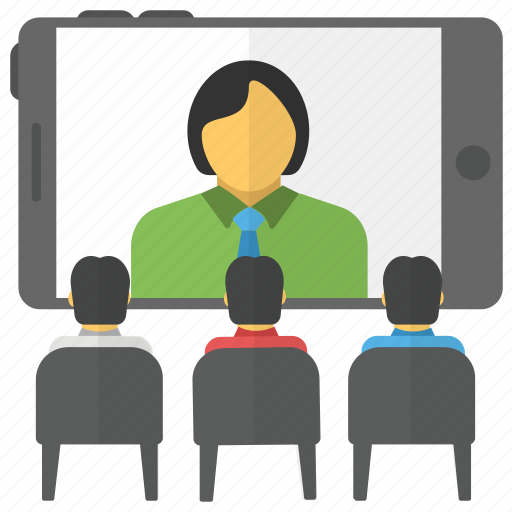 online chat, remote chat, video chat, video conferencing, virtual meeting icon