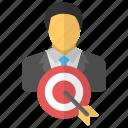 audience target, client target, customer target, market target, target user icon