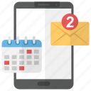 business email, business event, correspondence, event email, online conversation icon