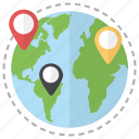 global locations, international addresses, location pointers, locations, location markers, location pins
